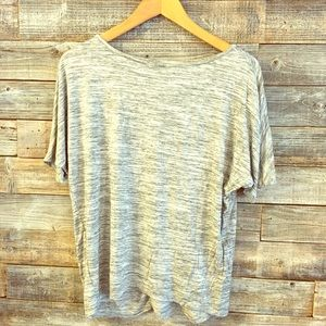 Loft gray shirt size small EUC
